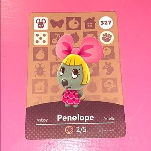 Animal crossing amiibo card Penelope